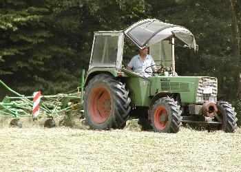 Heu wenden - Ferien auf dem Bauernhof