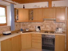 Küche - Ferienwohnung auf dem Bauernhof in Bayern
