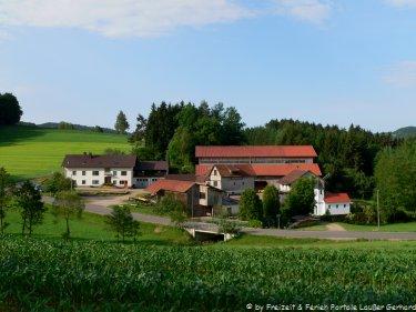 Bauernhofferien in Bayern - Hof Ansicht der Fingermühl im Bayerischen Wald