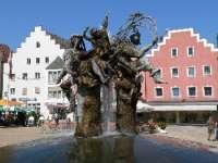 Der Stadtbrunnen in Cham - Ausflugsziel in Bayern