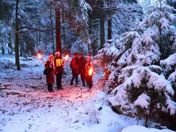 Fackelwnaderungen Urlaub auf dem Bauernhof - Winterferien auf dem Bauernhof Winterwanderungen