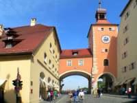 Bruckturm der Steinernen Brücke in Regensburg
